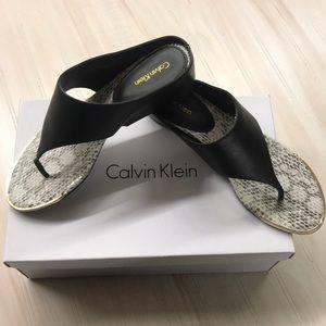 Calvin Klein snake skin sandals size 8.5 NWT